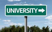 University creative sign