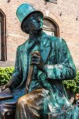 COPENHAGEN, DENMARK - MAY 2: Hans Christian Andersen statue in Copenhagen on May 2, 2011 in Copenhagen, Denmark. He was a Danish author and poet best remembered for his fairy tales