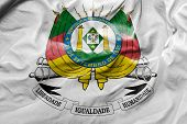 image of gaucho  - Amazing Flag of the Coat of Arms of the State of Rio Grande do Sul  - JPG