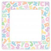 Alphabet Frame, Pastels