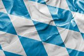 Amazing Flag of Bavaria State in Germany, Europe