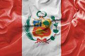 Amazing Flag of Peru, Latin America