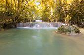 Backyard Waterfall in Autumn Season