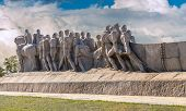stock photo of bandeiras  - Bandeiras Monument in Ibirapuera Park - JPG