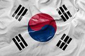 Amazing Flag of South Korea, Asia