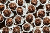 Table with Sweet Brigadeiro - It's typical in Brazil