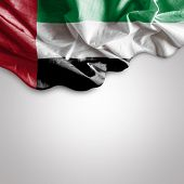 stock photo of patriot  - Waving Flag of UAE - JPG