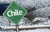 Chile Sign on a snow background