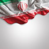 picture of tehran  - Waving Flag of Iran - JPG