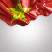 Waving flag of Vietnam, Asia
