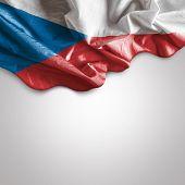 Waving flag of Czech Republic, Europe