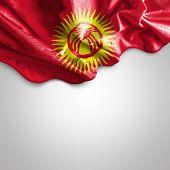 Waving flag of Kyrgyzstan