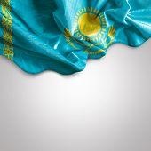 Waving flag of Kazakhstan, Africa