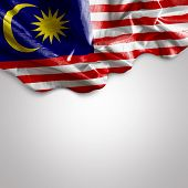 Waving flag of Malaysia, Africa