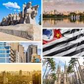 Collage of images from Sao Paulo, Brazil, Latin America