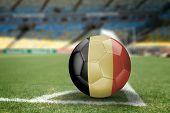 Belgium soccer ball on the soccer field