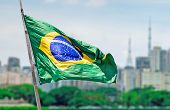 Flag of Brazil in Sao Paulo, Brazil - Latin America