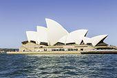 SYDNEY, AUSTRALIA - JANUARY 4: Sydney Opera House view on January 4, 2014 in Sydney, Australia. The Sydney Opera House is a famous arts center. It was designed by Danish architect Jorn Utzon.