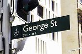 George St. in Sydney, Australia