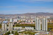 View of Ulaanbaatar from the height of the memorial complex on the outskirts of the city