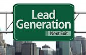 Lead Generation road sign on the city