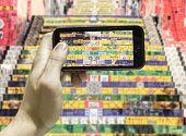 Hand takes a picture in Rio de Janeiro in Brazil, Latin America