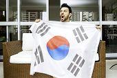 South Korean fan celebrates at home