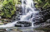Deep forest waterfall in Matutu, Minas Gerais, Brazil