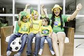 Brazilian family celebrates at home