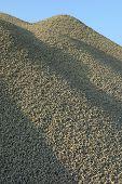 foto of sand gravel  - Pile of green gravel  - JPG