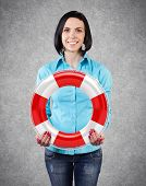 Girl With A Lifebuoy