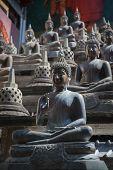 Buddha Statues And Small Stupas In Gangaramaya Temple.