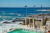 Swimming and Yoga at Bondi Icebergs