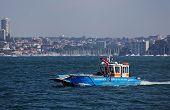 Waste disposal boat in Sydney