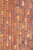 Red Brick Pattern In Sunlight
