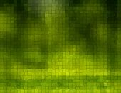 Green Background With cubes