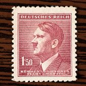 Postage Stamp With Adolf Hitler