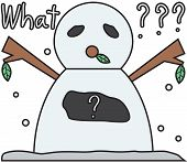 vector winter snowman face cartoon emotion expression stupid