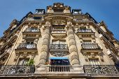 Paris Architecture: Haussmannian Facade And Ornaments