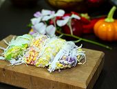 Thai dessert made from flour, sugar, soybean and coconut