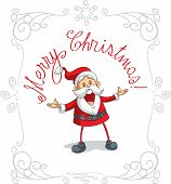 Santa Claus Merry Christmas Vector Cartoon