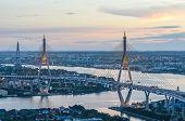 The Bhumibol Bridge Of  Thailand