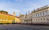 Representative Yard And Presidential Palace In Vilnius, Lithuania
