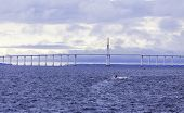The Manaus Iranduba Bridge (called Ponte Rio Negro in Brazil) is a bridge over the Rio Negro with 3595 meters of length that links the cities of Manaus and Iranduba. It was opened on Oct 24, 2011