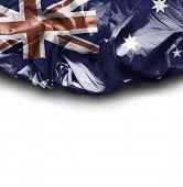 Australia waving flag on white background
