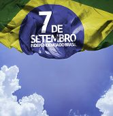 September, 7 Independence of Brazil - Dia 7 de Setembro, Independencia do Brasil on a beautiful day