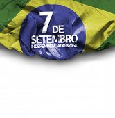 September, 7 Independence of Brazil - Dia 7 de Setembro, Independencia do Brasil on white background
