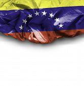 Venezuela waving flag on white background