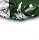 Pakistan waving flag on white background