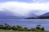 Beautiful turquoise lake, Lake Te Anau, New Zealand
